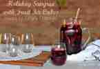 Tiffani Thiessen's Holiday Sangria Recipe with Fruit Ice Cubes!