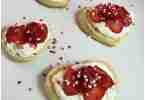 These heart shaped cream cheese fruit tarts are easy to make and perfect for Valentine's Day.
