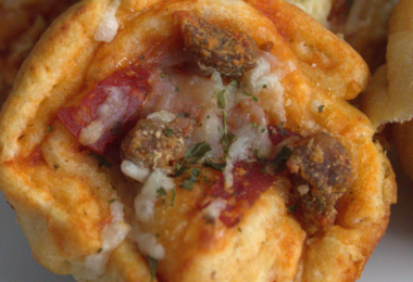 Pizza Wheels, easy to make with Pilsbury Crescent Dough Sheets and Armour Toppables.