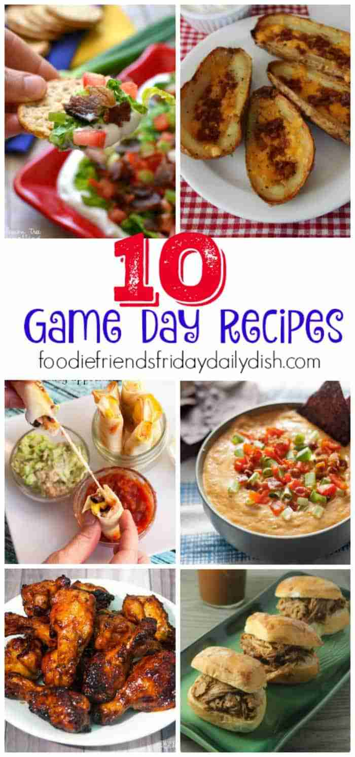 Ten Game Day Recipes from Daily Dish Magazine.