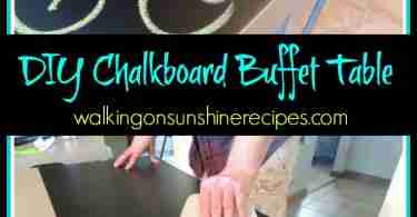Make your own DIY chalkboard table.