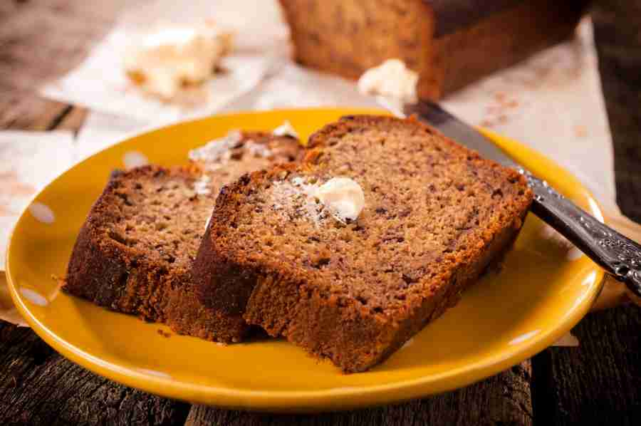 Homemade Banana Bread is a great way to use over-ripe bananas.