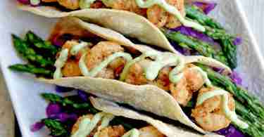 Simple Shrimp Tacos with Asparagus via Pink Heels Pink Truck