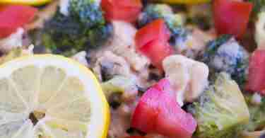 Herbed Lemon Chicken Pasta via Simply Stacie