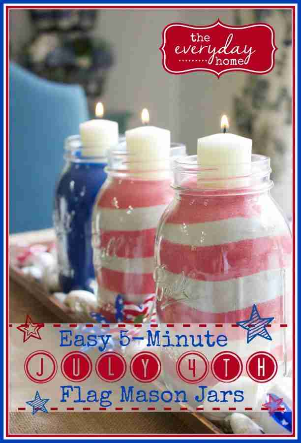 July 4th Mason Jars from Everyday Home Blog
