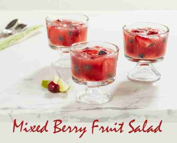Sparkling ICE Mixed Berry Fruit Salad Recipe