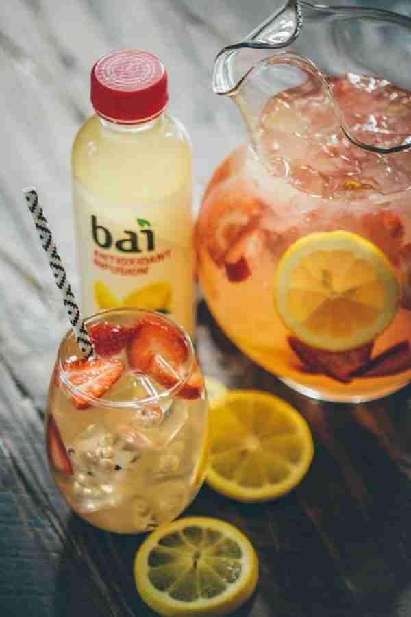 Bai Strawberry Limu Lemonade Cocktail