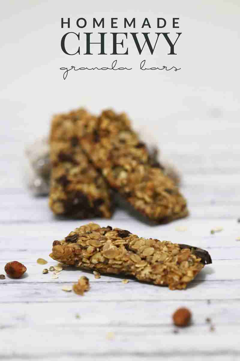 Homemade Chewy Granola Bars from Hello Nature Blog