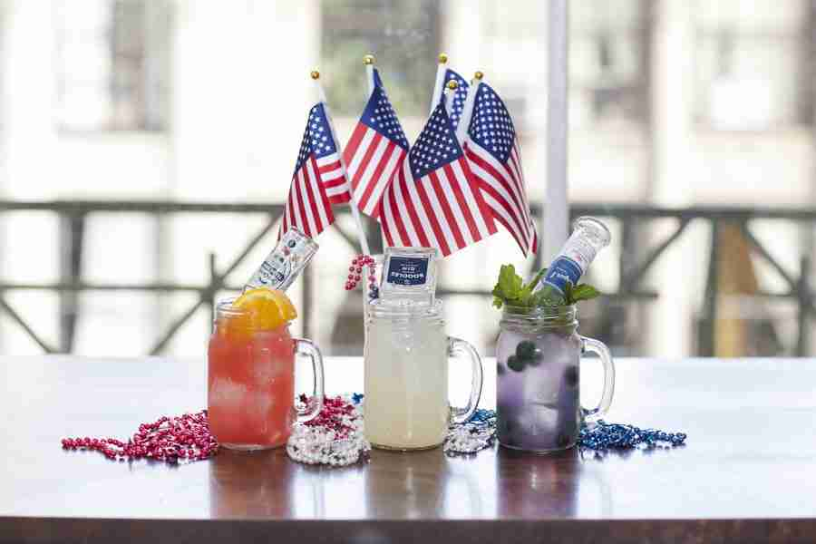 July 4th Mini Cocktails - Red, White & Blue!