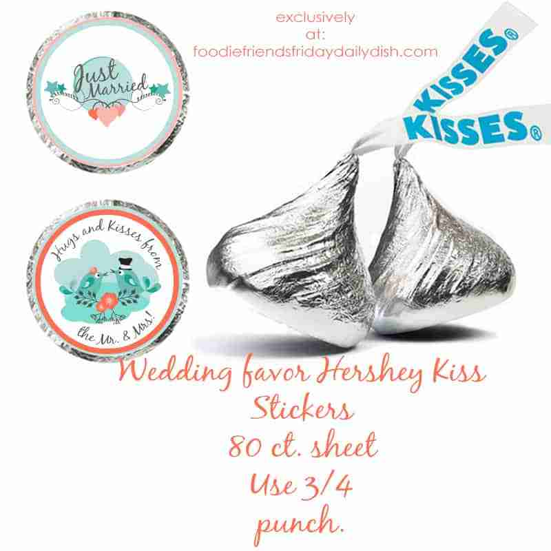 Hershey Kiss Wedding Favor Printables - FREE!