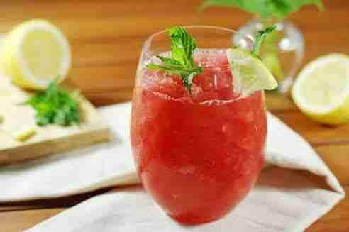 Watermelon Strawberry Moscato Slushie