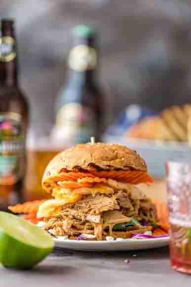 Boozy BBQ Pulled Pork Sandwiches