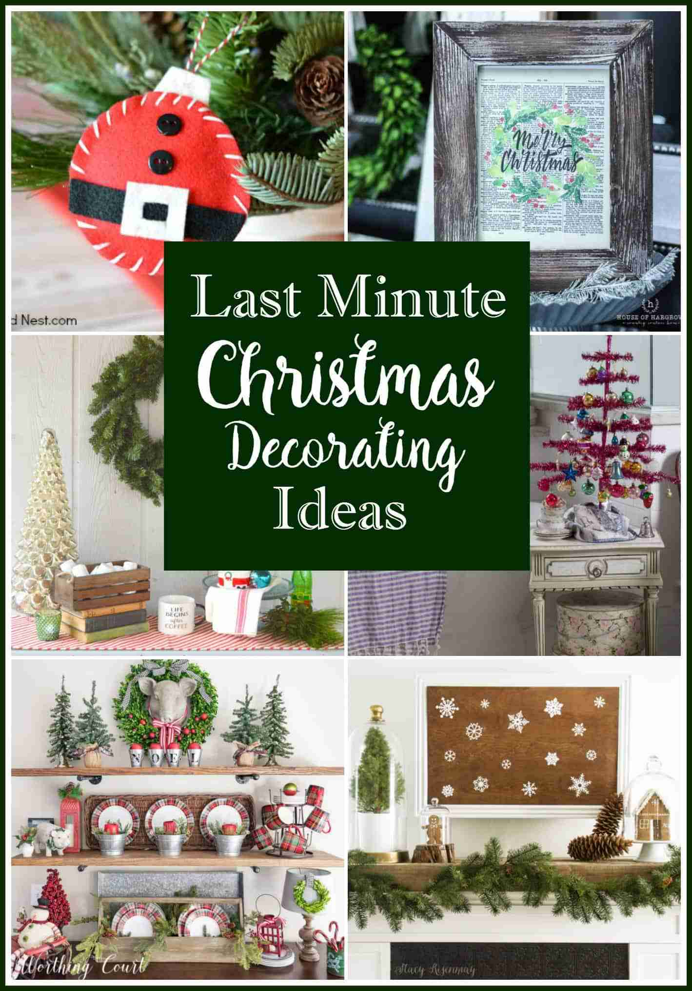 Last Minute Christmas Decorating Ideas from Daily Dish Magazine