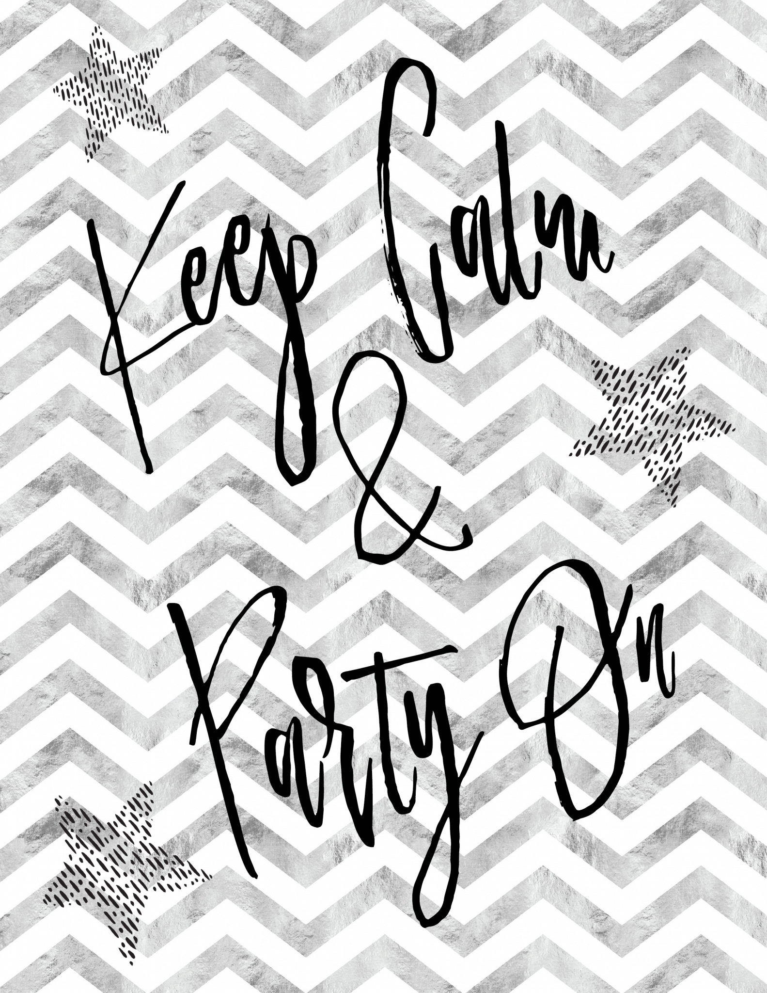 Keep Calm and Party On Free Printable Art | New Years Eve Party