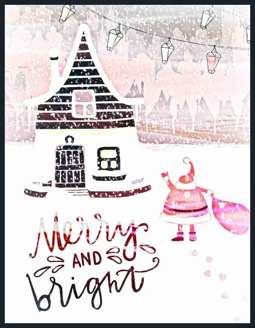 Free Vintage Christmas Printable Art | Merry & Bright