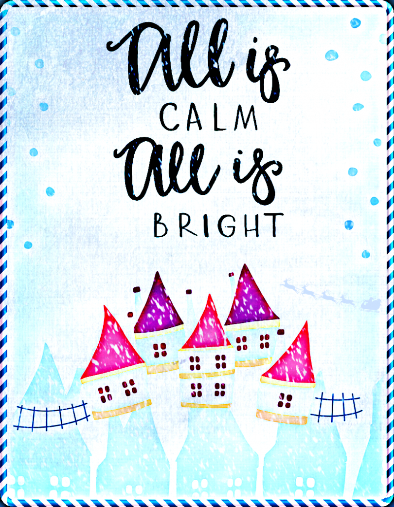 Free Vintage Christmas Printable Art | All is Calm, All is Bright