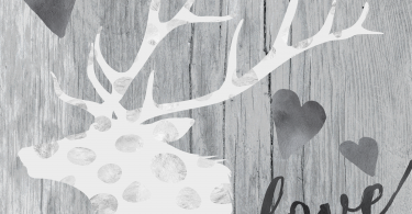 LOVE Elegant Deer Printable for Valentines Day