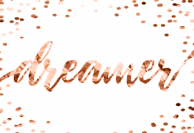 Free Rose Gold Dreamer Printable Art