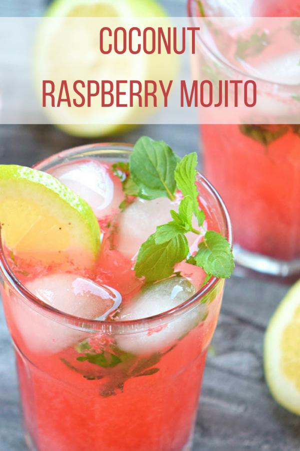 Coconut Raspberry Mojito Recipe | Daily Dish Magazine