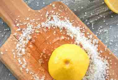 How to Clean a Cutting Board Naturally!