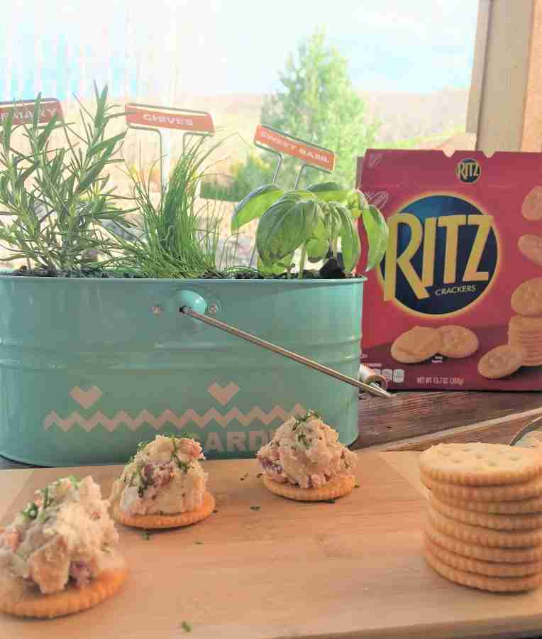 Fresh Snacks for Spring with RITZ Crackers & Rosemary Chicken Spread
