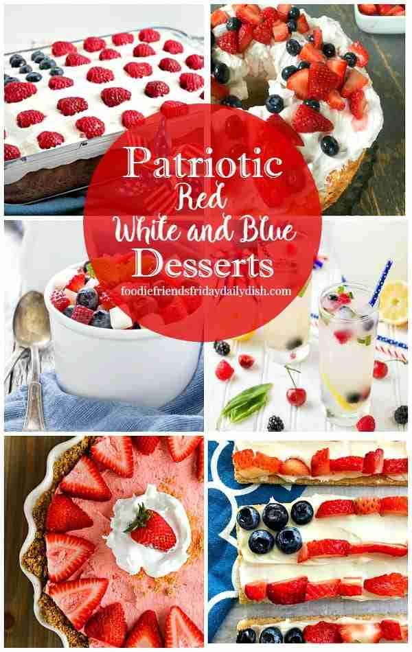 Red White and Blue Desserts featured on Daily Dish Magazine