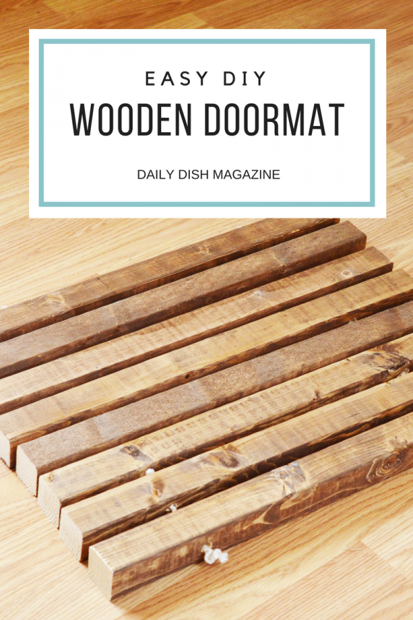 DIY Wooden Doormat
