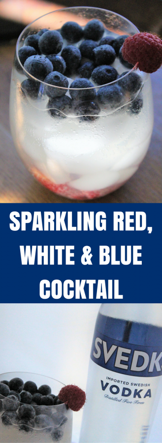 Sparkling Red, White & Blue Cocktail | SVEDKA | Light Cocktails