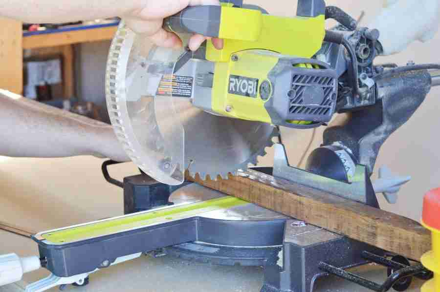 Cutting with with Miter Saw