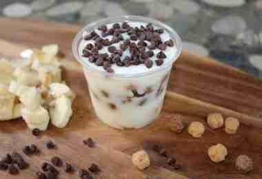 Chocolate Banana Peanut Butter Cups Yogurt Cups