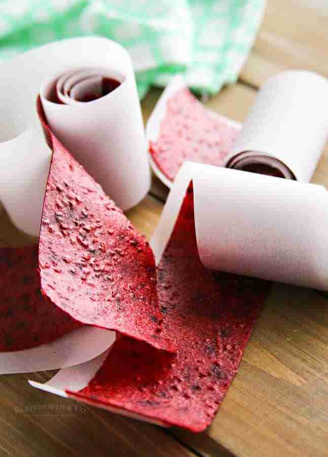 Mixed Berry Fruit Leather from Kleinworth and Co