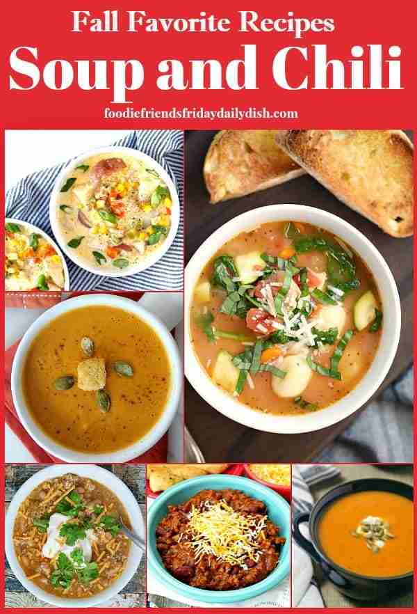 Fall Favorite Soup and Chili Recipes featured on Daily Dish Magazine