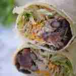 Skinny Black Bean Chicken Wrap