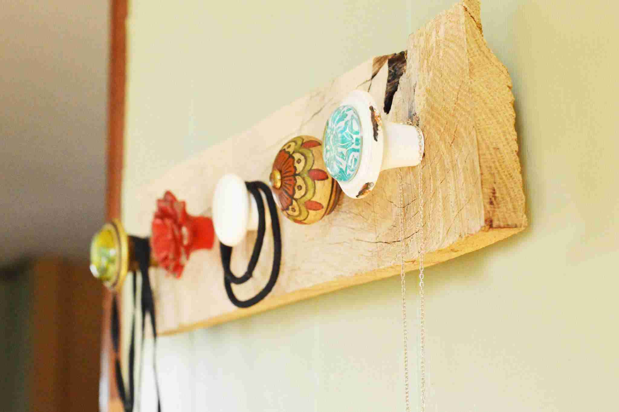 Homemade Rustic Jewelry Hanger