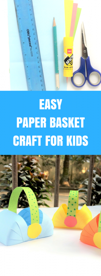 Easy Paper Basket Craft for Kids | Perfect for Easter Baskets!