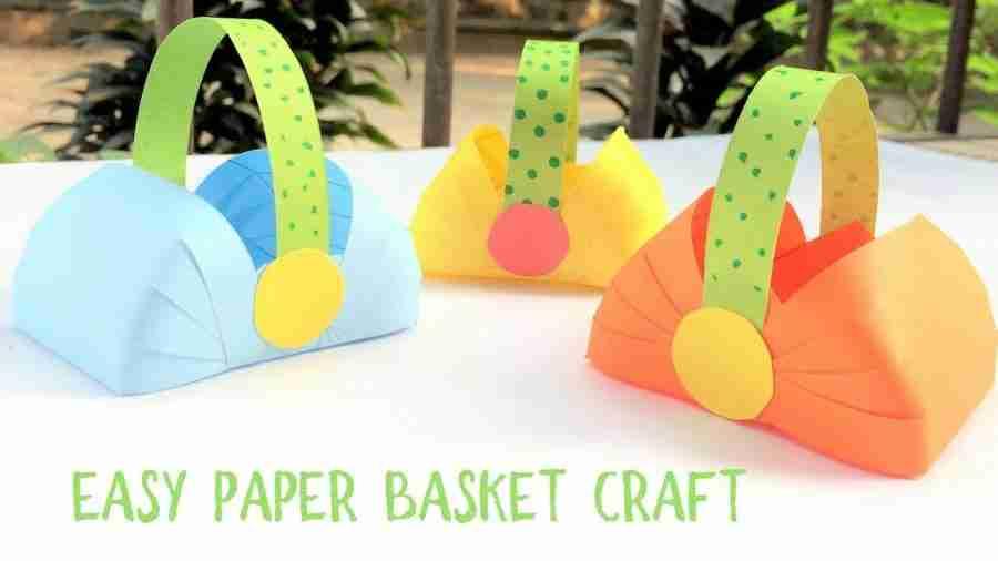 Easy Paper Basket Craft