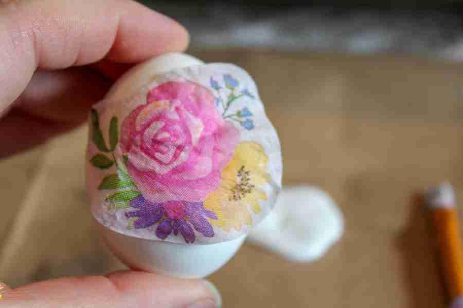 Decoupage Easter Eggs