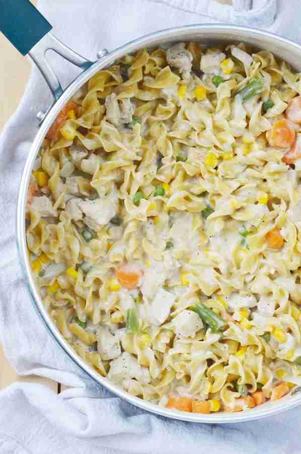 Easy Chicken Noodle Skillet Meal