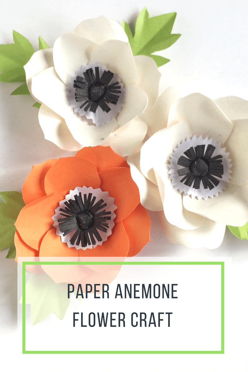 Paper Anemone Flower Craft