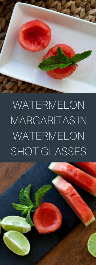 Watermelon Margarita Served in a Watermelon Ball Shot Glass | Cinco de Mayo Cocktail