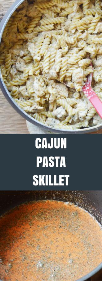 Easy Cajun Pasta Skillet Dinner Recipe