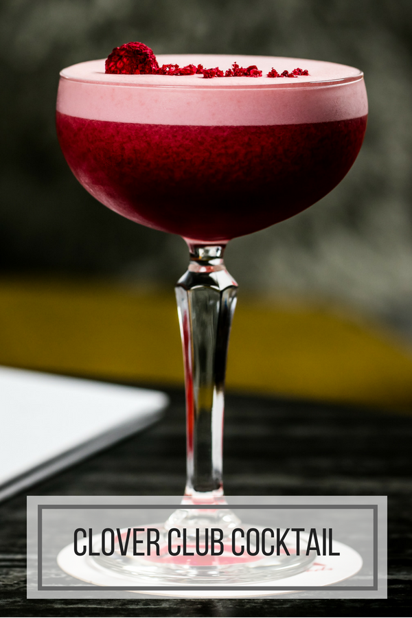 Clover Club Raspberry Gin Cocktail Recipe
