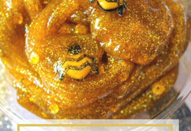 Gold Glitter Honey Bee Slime Recipe