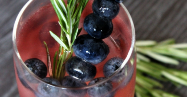 Sparkling Pomegranate Blueberry Blast Cocktail