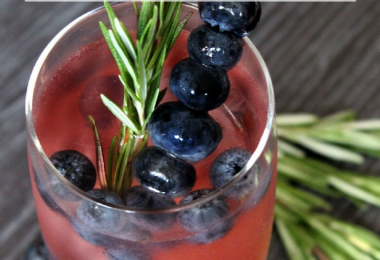 Sparkling Pomegranate Blueberry Blast Cocktail