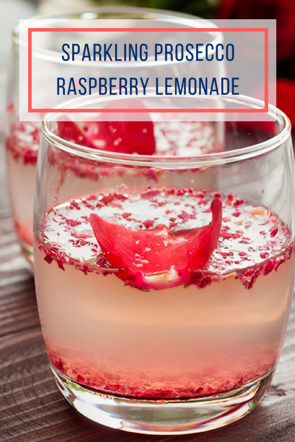 Sparkling Prosecco Raspberry Lemonade Cocktail