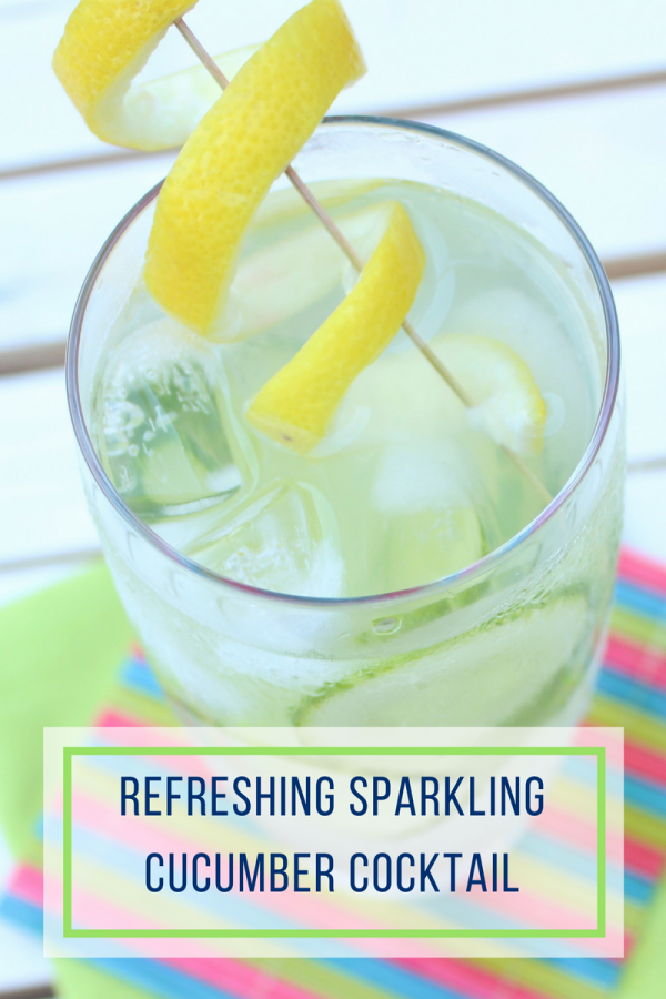 Refreshing and Light Sparkling Cucumber Cocktail