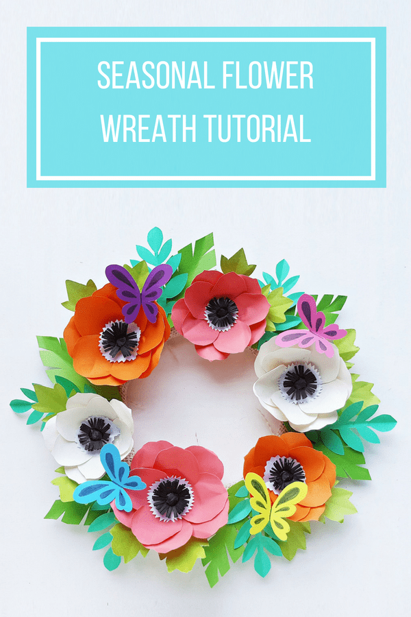 Easy Paper Flower Wreath Tutorial