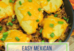 Easy Mexican Cornbread Skillet Dinner Recipe