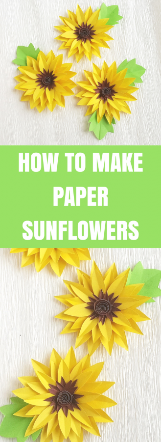 How to Make Paper Sunflowers | Easy Paper Craft
